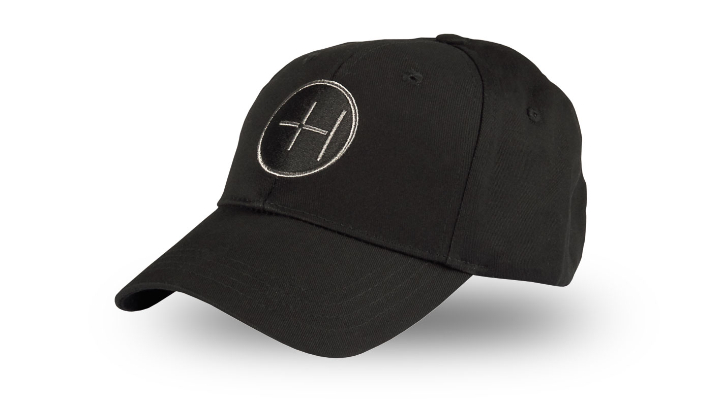 Black Cotton Twill Cap